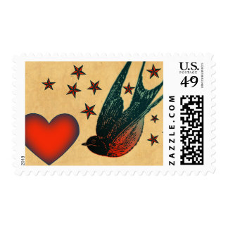 Swallows and Stars Stamp