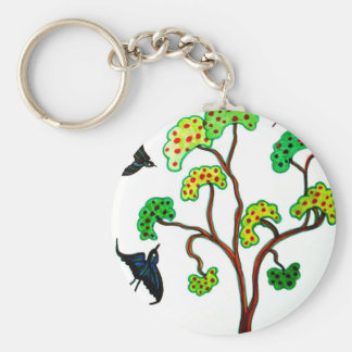 Swallows and the apple tree keychains