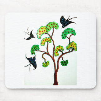 Swallows and the apple tree mouse mat