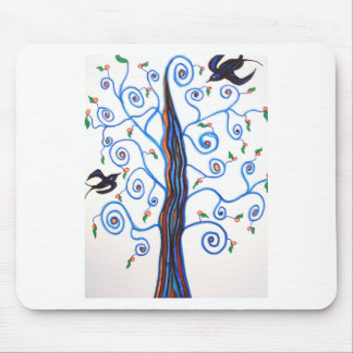 Swallows and the orange tree mouse pad