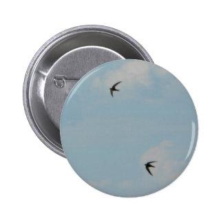 Swallows Birds 2 Inch Round Button