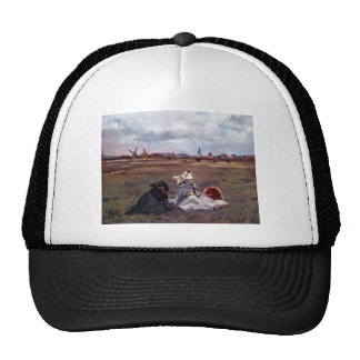 Swallows by Edouard Manet Mesh Hat