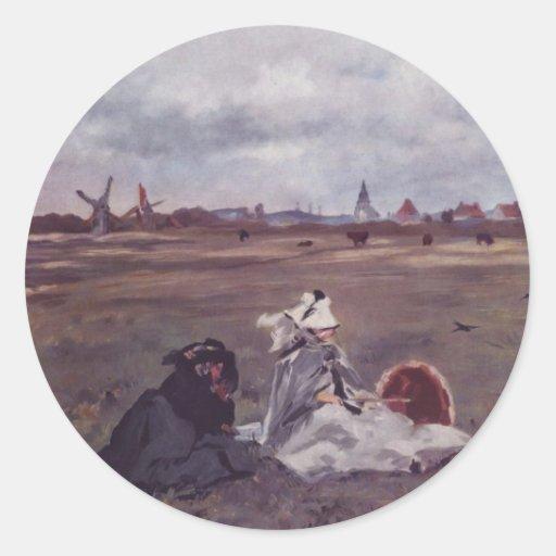 Swallows - Edouard Manet Classic Round Sticker