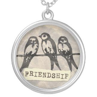 Swallows Friendship necklace round