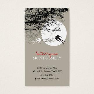 Swallows in Moonlight Ash Custom Profile Card