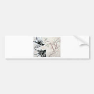 Swallows in the snow bumper sticker
