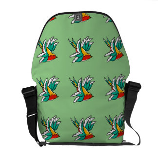 Swallows inspired by traditional tattoo design messenger bag