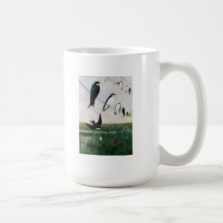 Swallows on a Power Line Coffee Mug