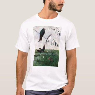 Swallows on a Power Line T-Shirt