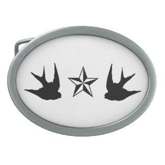 Swallows & Stars Belt Buckle
