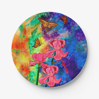 Swallowtail Attraction Paper Plates 7 Inch Paper Plate