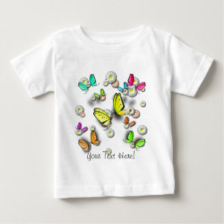 Swallowtail Butterflies and Daisies Baby T-Shirt