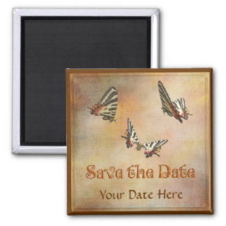 Swallowtail Butterflies Save the Date Magnet 2 Inch Square Magnet