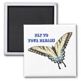 Swallowtail Butterfly 2 Inch Square Magnet