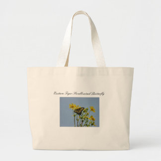 Swallowtail Butterfly against a Beautiful Blue Sky Large Tote Bag