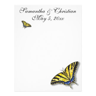 Swallowtail Butterfly Bridal Wedding Stationery