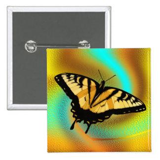 Swallowtail Butterfly Button