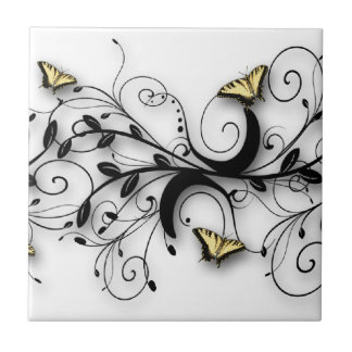 Swallowtail Butterfly Design Tile