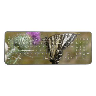 Swallowtail Butterfly Flower Wireless Keyboardist Wireless Keyboard