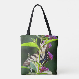 Swallowtail Butterfly Flowers Floral Tote Bag