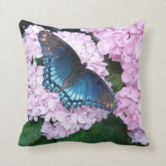Swallowtail Butterfly Flowers Floral Wildlife Throw Pillow