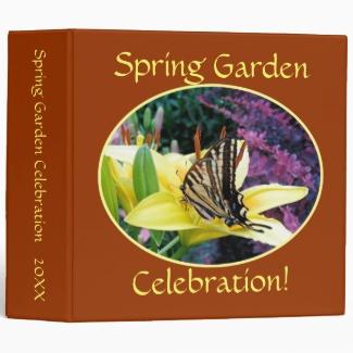 Swallowtail Butterfly Garden 2 inch Binder