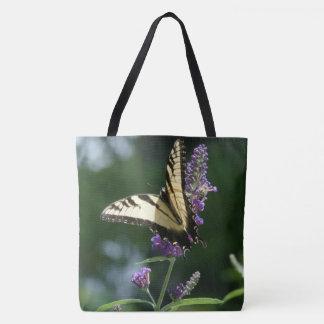 Swallowtail Butterfly Garden Flowers Floral Bag