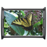 Swallowtail Butterfly I on Milkweed at Shenandoah Serving Tray