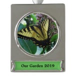 Swallowtail Butterfly I on Milkweed at Shenandoah Silver Plated Banner Ornament