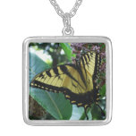 Swallowtail Butterfly I on Milkweed at Shenandoah Silver Plated Necklace