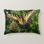 Swallowtail Butterfly III Beautiful Colorful Photo Accent Pillow