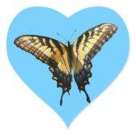 Swallowtail Butterfly III Beautiful Colorful Photo Heart Sticker