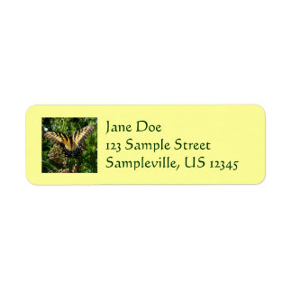 Swallowtail Butterfly III Beautiful Colorful Photo Label