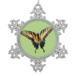 Swallowtail Butterfly III Beautiful Colorful Photo Snowflake Pewter Christmas Ornament