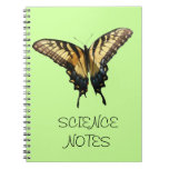 Swallowtail Butterfly III Beautiful Colorful Photo Spiral Notebook