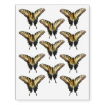 Swallowtail Butterfly III Beautiful Colorful Photo Temporary Tattoos