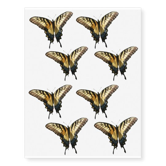 350396457 Swallowtail Butterfly III Beautiful Colorful Photo Temporary Tattoos |  Zazzle.com