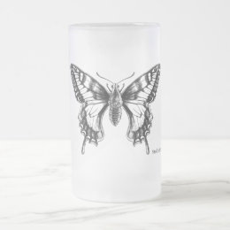 Swallowtail Butterfly ink drawing mug