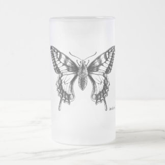 Swallowtail Butterfly ink drawing mug