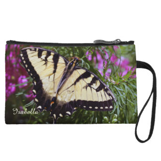 Swallowtail Butterfly Mariposa Personalized Wristlet Wallet