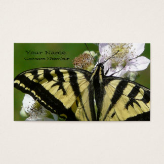 Swallowtail Butterfly  on Flower Blossoms Business Card