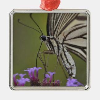 Swallowtail Butterfly on flower, Chiba Metal Ornament