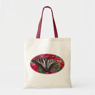 Swallowtail Butterfly on Flowers Budget Tote Bag