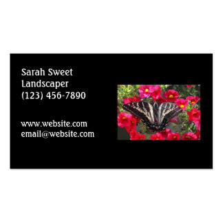 Swallowtail Butterfly on Flowers Double-Sided Standard Business Cards (Pack Of 100)