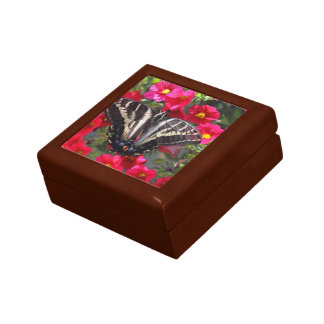 Swallowtail Butterfly on Flowers Gift Box