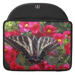 Swallowtail Butterfly on Flowers MacBook Pro Sleeves