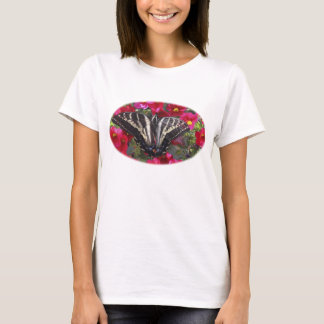 Swallowtail Butterfly on Flowers T-Shirt