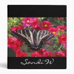 Swallowtail Butterfly on Flowers Vinyl Binder