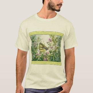 Swallowtail Butterfly on Forget-Me-Nots Painting T-Shirt