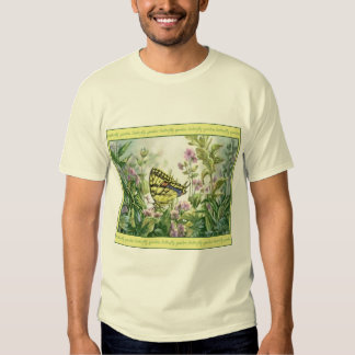 Swallowtail Butterfly on Forget-Me-Nots Painting Tee Shirt